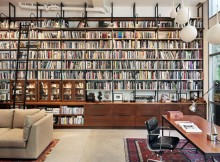 Industrial library shelves