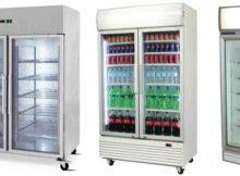 commercial upright fridge