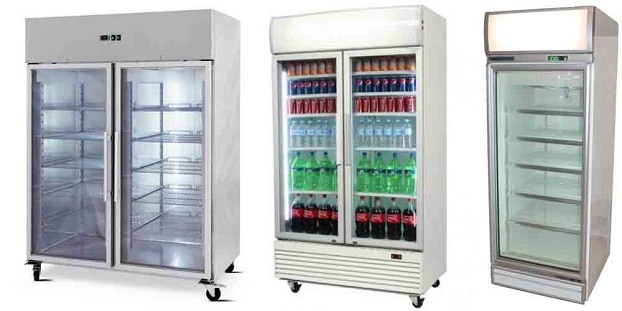commercial upright fridge