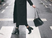 lady wearing black boots
