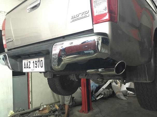 Dmax exhaust upgrade