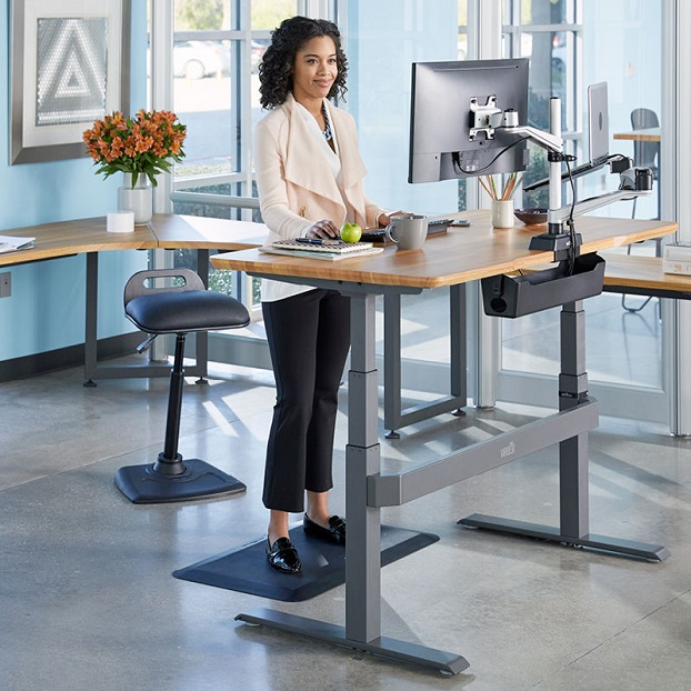working by standing up