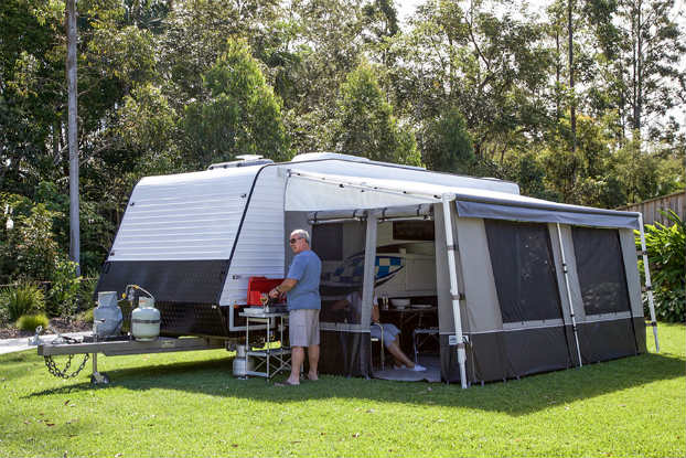 caravan awning for shade