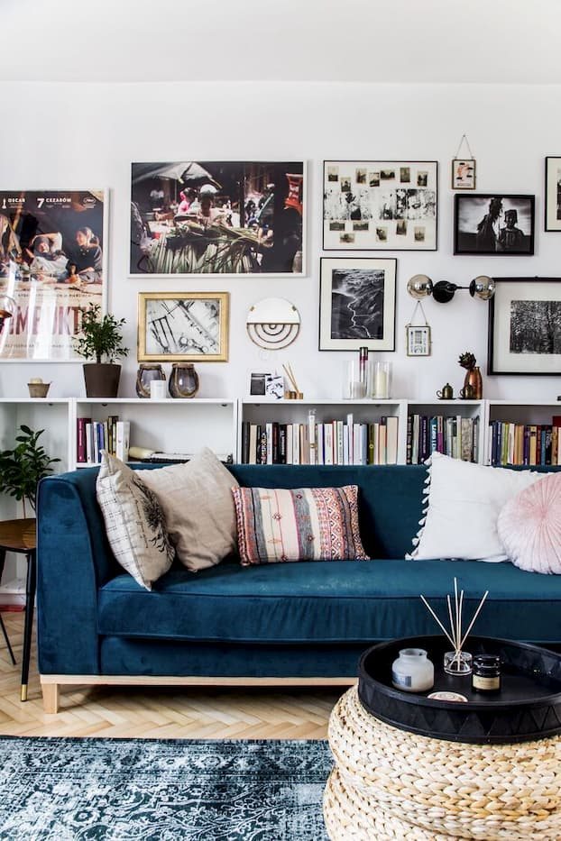 mixed contemporary and vintage furniture style