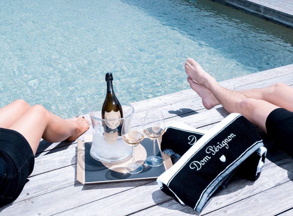 Dom Perignon summer champagne pool