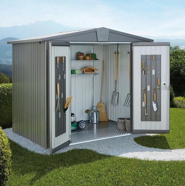Steel Garden shed storage