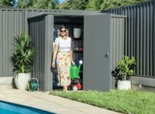 small garden sheds with sliding doors