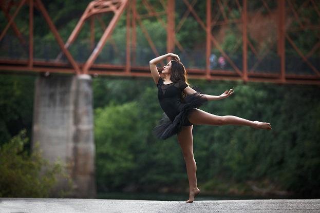 Ballerina dancing in a ballet costume