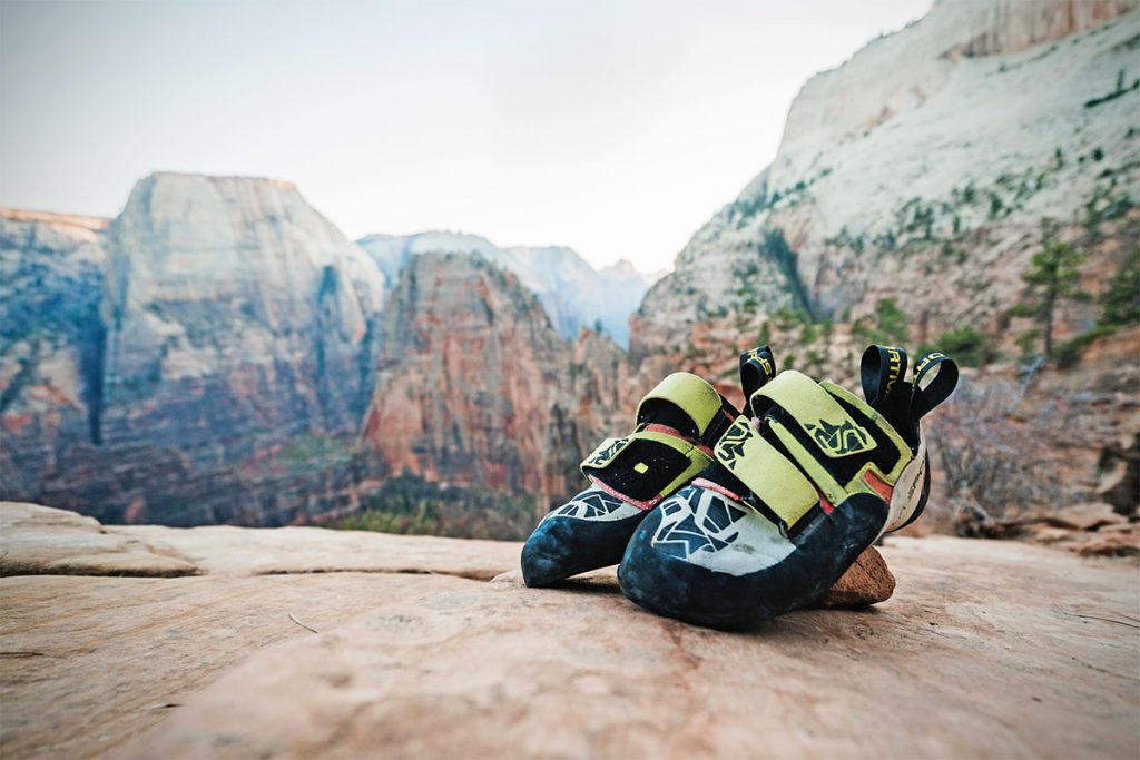 Rock Climbing Shoes leather