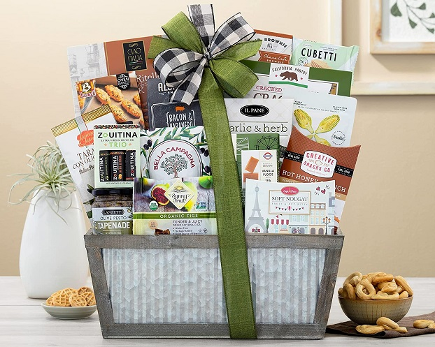 packed gift basket